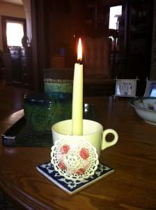 Makeshift Yahrzeit Candle